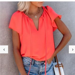 VICI Collection all a flutter tie top
